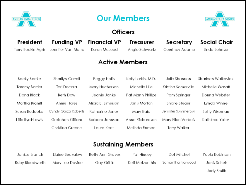 Member List 10-5-19
